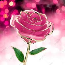 وردة الكريستال الوردي الخلفية عيد الحب التاريخ بينك روز Png