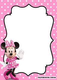 Free Minnie Mouse Kids Polkadot Invitation Templates Convite