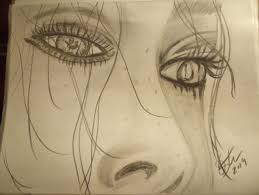 sad drawing pencil sketch colorful