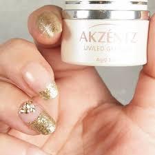 akzentz gold leaf gel nail art