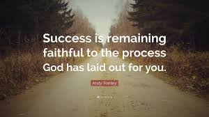 """andy stanley quote """"success is remaining faithful to the process"""