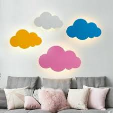 Wall Mounted Light Lamps Kids Bedroom Led Bulbs Lighting Cloud Design Wall Lamp Ebay