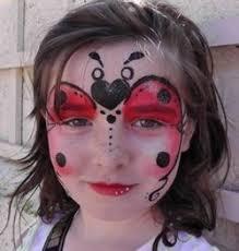 ladybug face paintings
