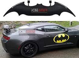 Amazon Com Icbeamer 55 Batman Style Real Carbon Fiber Adjustable Rear Trunk Auto Spoiler Wing W Rear Brake Led Stop Light Strips Automotive