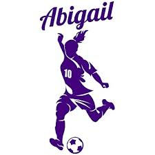 Amazon Com Soccer Player Decal Custom Girl Name Wall Room Personalized Vinyl Sticker Decor B X Large 18 X 38 Inches Home Kitchen