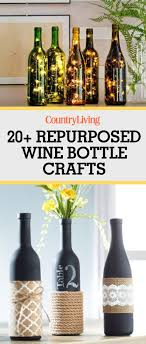 turn your empty wine bottles into works