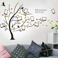 Shijuekongjian Fallen Leaves Photo Frame Wall Stickers Diy Family Tree Plant Wall Decals For Living Room Bedroom Decoration Wall Stickers Aliexpress