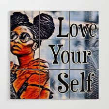 Love Your Self African American Black Woman Wood Wall Art By Mccallaco Society6