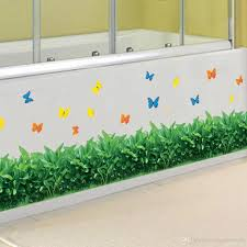 Green Grass Wall Border Decal Sticker Kitchen Wash Room Living Room Window Glass Decoration Wallpaper Decor Poster Butterfly Art Decal Wall Tattoos Wall Tattoos Decals From Magicforwall 2 17 Dhgate Com