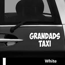 Grandad S Taxi Self Adhesive Vinyl Sticker 200mm X 200mm Car Sku5402 Mpv Emblemen Stickers