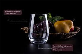 stemless wine glasses in iso standard