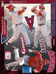 Mike Trout Anaheim Angels Hero Pack Fathead Wall Graphics On 3 4 X 4 6 Sheet 1926295617