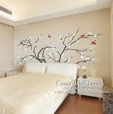 Tree Wall Decals Blue Birds Vinyl Wall Decals White Cherry Blossom Wall Decals Nature Wall Sticker Nursery Tree Blue Birds Z140 Cuma Nursery Wall Stickers Wall Decals Tree Wall