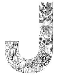 Alphabet Animal Coloring Pages J Kleurplaten Alfabet