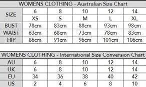 Image result for australian standard size chart