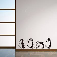 Cute Penguin Cartoon Wall Stickers For Kids Room Decoration Sale Price Reviews Gearbest