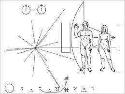 Placa de la sonda espacial Pioneer 10. – Bitácora. Textos e ideas sobre  diseño gráfico
