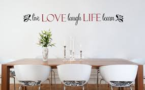 Love Life Live Laugh Learn Wall Decals Trading Phrases