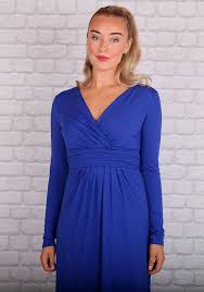 Sonya Long Sleeved Dress in Blue – Redlane.ie