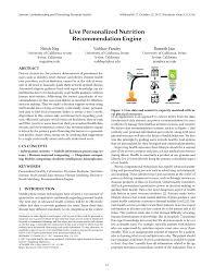 nutrition remendation engine