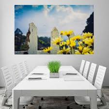 Yellow Daisies Flowers Fence Wallpaper Poster No Framed Large Painting On Canvas Wall Art Picture For Home Decoration Wall Decor Poster Paper Print Total Home Posters Art Paintings Posters