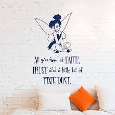 Amazon Com Wall Decals Tinkerbell Wall Decal Little Princess Silhouette Fairy Girl Peter Pan Decals Wall St Disney Wall Decals Princess Silhouette Wall Decals