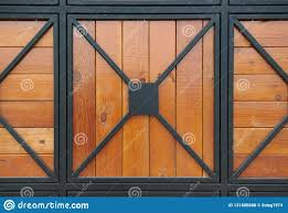 Wooden Gate With Wrought Iron As Background Stock Photo Image Of Wooden Entrance 131880888