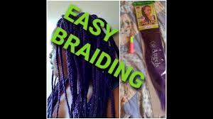 How to crochet box braids for beginners//coloured braids// first time  braiding - YouTube