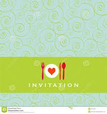 Invitation De Diner Illustration De Vecteur Illustration Du