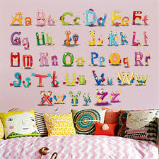 Adorable Animal Design Letter Recognizer Wall Sticker For Early Education Custom Wall Stickers Sticker Art Sticker Decor