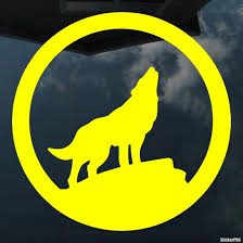 Decal Wolf Howling At The Moon Sign Buy Vinyl Decals For Car Or Interior Decal Factory Stickerpro Different Colors And Sizes Is Avalable Free World Wide Delivery
