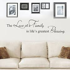 Amazon Com Moharwall The Love Of A Family Is Life S Greatest Blessing Wall Decals Quote Vinyl Art Lettering Picture Wall Sticker Living Room Bedroom Decoration Home Kitchen