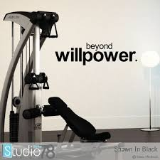 Workout Room Vinyl Wall Decal Workout Motivation Quote Etsy