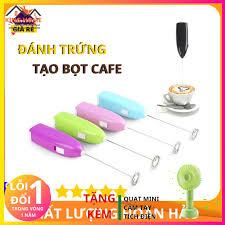 XẢ KHO] Máy Đánh Trứng Tạo Bọt Cafe Cầm Tay Mini Thế Hệ Mới + Tặng Quạt Mini  Cầm Tay Tích Điện