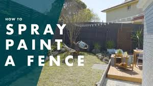 How To Paint A Fence With A Spray Gun Youtube