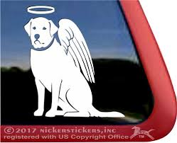 Angel Labrador Retriever Decals Stickers Nickerstickers
