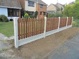New Picket Fence Project D L Landscapes Ltd Backyard Fences Concrete Posts Brick Fence