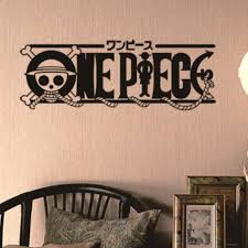 One Piece Logo Walldecal Comics And Animation Sticker Logo Decal Vinyl Wall Decals Pegatina Quadro Parede Decor Mural Sticker Wall Stickers Aliexpress