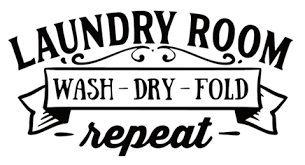 Laundry Room Wash Dry Fold Repeat Wall Sticker Vinyl Sticker Wallpaper For Less Murray