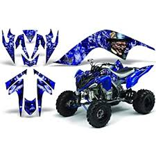 Amazon Com Amr Racing Atv Graphics Kit Sticker Decal Compatible With Yamaha Raptor 700 2006 2012 Mad Hatter Blue Blue Automotive