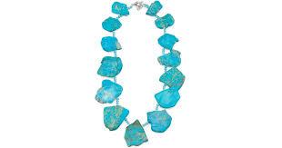jasper and blue quartz necklace