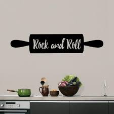 Rock And Roll Rolling Pin Wall Decal Kitchen Cooking Baking Quotes Sticker Ebay