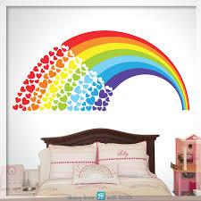 Rainbow With Hearts Decal Rainbow Wall Decal Rainbow Decor Rainbow Sold By Happy House No1 On Storenvy