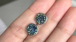 cote d azur drusy stud earrings in
