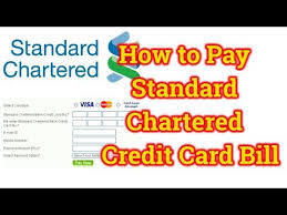 pay standard chartered credit card bill