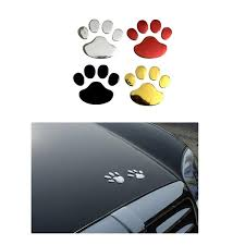 Car Sticker Cool Design Paw 3d Animal Dog Cat Bear Foot Prints Footprint 3m Decal Car Stickers Silver Gold Red Wish
