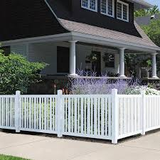 Outdoor Essentials Pro Series Evanston 4 Ft H X 6 Ft W White Vinyl Flat Top Fence Panel In The Vinyl Fence Panels Department At Lowes Com