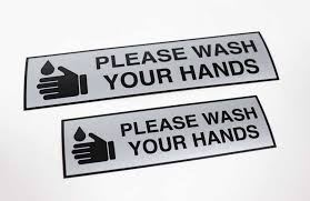 Wash Your Hands Decal Hand Hygiene Label
