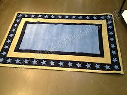 Pottery Barn Kids Navy Blue American Americana Star Border Room Area Rug 3x5 Ebay