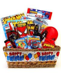 spider man birthday gift basket